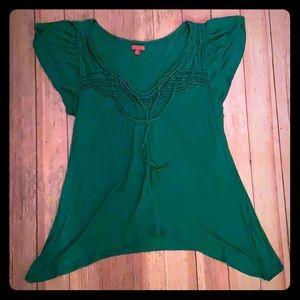 One September green blouse